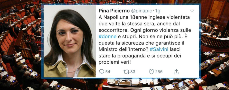 Tweet Pina Picierno Stupro di Napoli